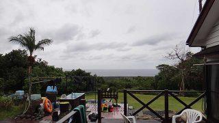 風は弱くはあるものの次第に雨足強まっていた12/7の八丈島