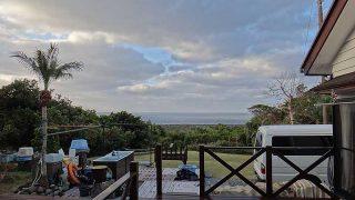 朝夕雲は多くはあるがスッキリ青空広がる時間帯もあった12/28の八丈島