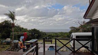 風は冷たくあるものの爽やかな青空も広がっていた1/1の八丈島
