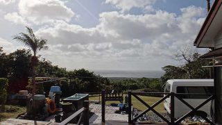 風は強いが青空広がり暖かさも続いていた1/9の八丈島