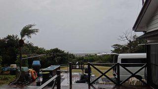 雨風強まり寒さも増して荒れた天気となっていた1/18の八丈島