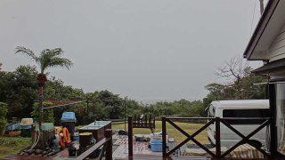 寒さは緩むが雨風強まり荒れた天気が続いていた1/28の八丈島