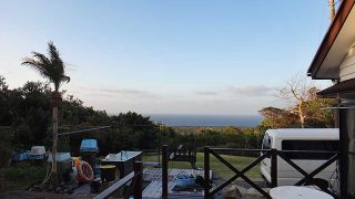 青空広がり空気も乾き爽やかな陽気となっていた3/3の八丈島