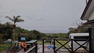 雨もパラつき寒さが続いていた3/31の八丈島
