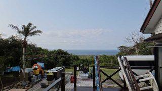 風は少し涼しいが気持ちの良い青空が広がっていた4/17の八丈島