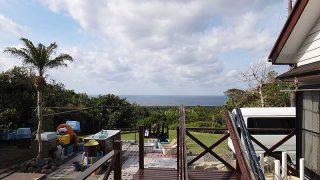 西風強めで涼しあるが青空は広がっていた4/24の八丈島