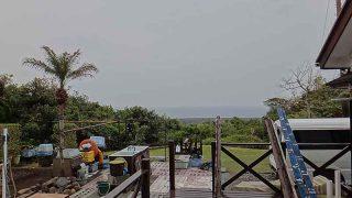 土砂降りの雨も降ってはいたが次第に青空広がっていた4/27の八丈島