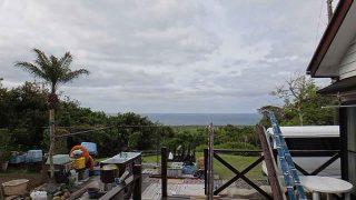 風も暖かで青空あるが雲は増えてもきていた5/3の八丈島