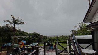 時折雨風強まってグズついた空模様となっていた5/4の八丈島