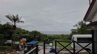 雨は降ったり止んだりグズついた空模様となっていた5/19の八丈島