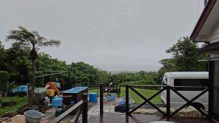 風は強まるものの雨はそんなに降ってはこなかった6/13の八丈島