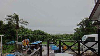 朝夕雨が降ってはくるが日中は曇り空が広がっていた6/27の八丈島