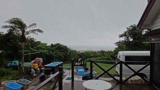 次第に雨足も強まり風は強めで荒れた天気となっていた6/28の八丈島