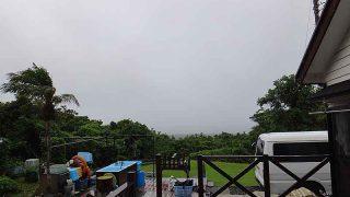 早めのうちは雨もしっかり降っていた7/2の八丈島
