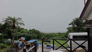 時折激しく雨も降りグズついた天気となっていた7/3の八丈島