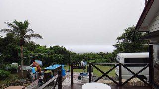 湿った空気は変わらずで雲が多くもあった7/7の八丈島
