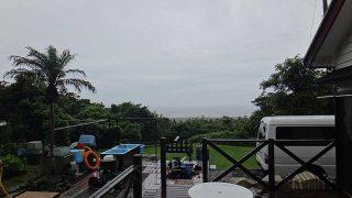 次第に雨は弱まるものの早めのうちは激しい雨も降っていた7/14の八丈島