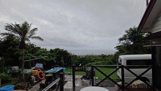 時間ともに雨も降りだし天気は崩れてきていた7/17の八丈島