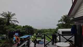 激しい雨も降ってきて荒れた天気となっていた7/19の八丈島