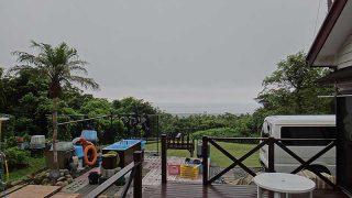 次第に雲は増えてきて一時的に雨も降ってきていた7/23の八丈島