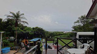 雲は多いが晴れ間もあって日中は暑くもなっていた7/25の八丈島