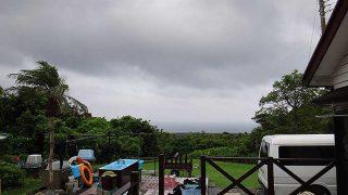 次第に雲は薄くなり風も弱まり穏やかになってきていた7/29の八丈島