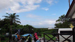 所々に雲はあるものの日差しも強く青空も広がっていた7/31の八丈島