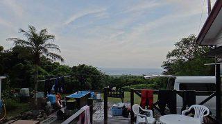 早めのうちは雨も降りはするものの青空が広がってきていた8/8の八丈島