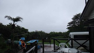 強まる雨は長くは続かず遅くなるほど青空増えてた9/12の八丈島