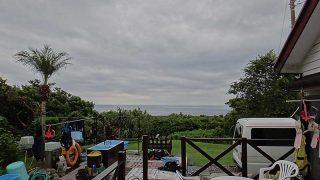 雲は広がり遅くなるほど雨もしっかり降ってきていた9/20の八丈島