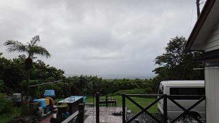 日中薄日も差し込むものの風は引き続き強くあった9/24の八丈島