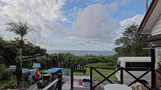 青空広がり少し雲はあるものの穏やかな天気となっていた9/26の八丈島