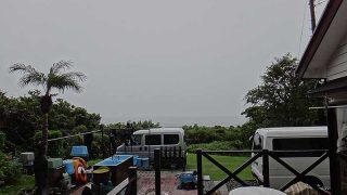 次第に雨は上がってはくるものの空気は涼しくなっていた9/27の八丈島