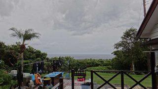 うっすら雲も広がって風は強まり涼しは増してた9/29の八丈島