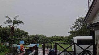 雨風変わらず強くもあって荒れた天気が続いていた10/8の八丈島
