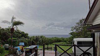 一時空は明るくなるが雲は広がり風は強くもあった10/9の八丈島