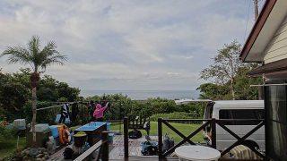朝方雲は多いが青空広がり爽やかな1日となっていた10/27の八丈島