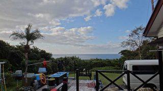 風は少し冷たくなるが爽やかな青空広がっていた11/15の八丈島
