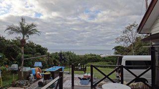 風は弱まり次第に空は晴れてもきていた11/22の八丈島