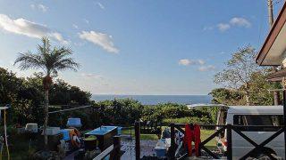 青空広がり風は弱めで穏やかな一日となっていた11/26の八丈島