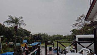早めのうちは雨も降り寒さが増してもいた11/29の八丈島