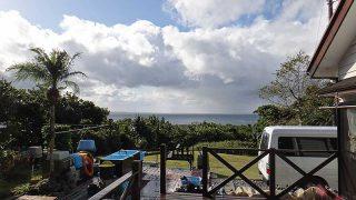 あられ混じりの雨も降り厳しい寒さとなっていた12/16の八丈島