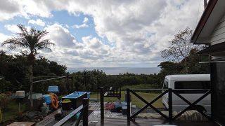 落ち着かない空模様となっており寒さが続いていた12/21の八丈島