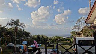 青空広がり風も穏やかになってきていた12/23の八丈島