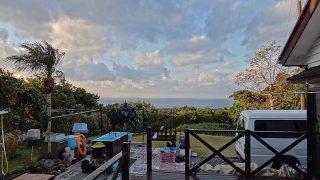 少し雲は残るが青空あって日中は寒さも緩んでいた12/25の八丈島