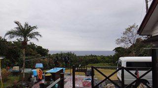 雲は広がりグズつく空模様となっていた12/28の八丈島