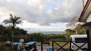 風は緩まり季節はずれの暖かさとなっていた12/29の八丈島