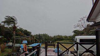 雨風強まって暖かくはあるが荒れた天気となっていた12/30の八丈島