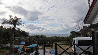 雲は広がり遅くなるほど雨足強まっていた1/12の八丈島