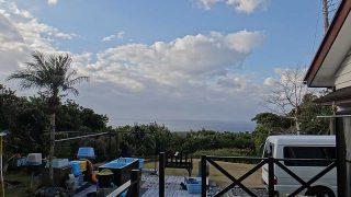風は少し強くはあるが青空広がり暖かくなっていた1/14の八丈島